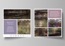 Business templates for square design brochure, magazine, flyer, booklet or report. Leaflet cover, vector layout. Business templates for square design brochure Royalty Free Stock Photos