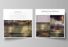 Business templates for square design brochure, magazine, flyer, booklet or report. Leaflet cover, vector layout. Business templates for square design brochure Stock Image