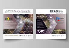 Business templates for square design brochure, magazine, flyer, booklet or report. Leaflet cover, vector layout Stock Photos