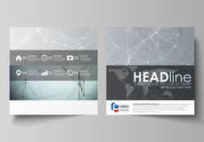 Business templates for square design brochure, magazine, flyer, booklet or report. Leaflet cover, vector layout Stock Photography