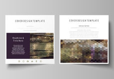 Business templates for square design brochure, magazine, flyer, booklet or report. Leaflet cover, vector layout. Business templates for square design brochure Stock Photography