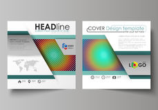 Business templates for square design brochure, magazine, flyer. Leaflet cover, vector layout. Minimalistic design with Royalty Free Stock Photos