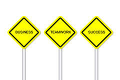 Business temwork success road sign Stock Photo