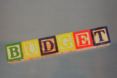Business term - Budget. A business term used at many meetings - budget Stock Photography