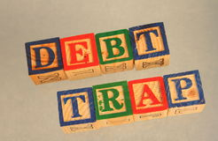 Business term - debt trap Stock Photography
