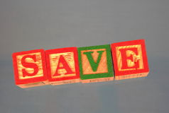 Business term - Save. A business term used at many meetings - Save Stock Photos