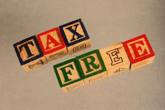 Business term - tax free stock photo