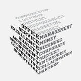 Business terms typography Stock Photography