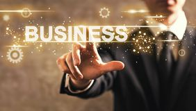 Business text with businessman Royalty Free Stock Photography