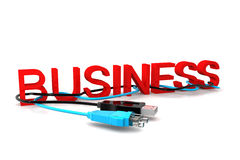 Business  text with cables Stock Images