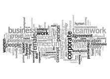 Business text cloud Royalty Free Stock Image