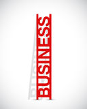 Business text ladder concept illustration Royalty Free Stock Photos