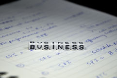 Business Text on Management Notebook. Of lined format. Clear and big text royalty free stock photo