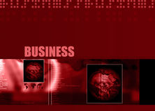 Business theme 001. Business Layout with business text and different region globes 001 stock illustration