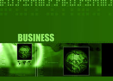 Business theme 003. Business Layout with business text and different region globes 003 royalty free illustration