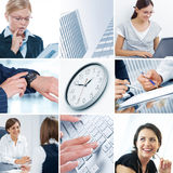 Business theme collage stock photo