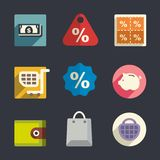 Business theme Flat icons Stock Photos
