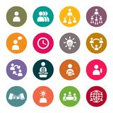 Business theme icons. Business theme icon set Royalty Free Stock Image
