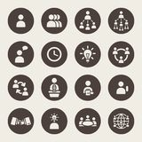 Business theme icons Stock Photo