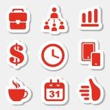 Business theme icons Royalty Free Stock Photos