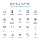 Business theme line icon set. Pixel perfect fully   icon set suitable for websites, info graphics and print media Royalty Free Stock Images