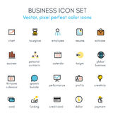 Business theme line icon set. Pixel perfect fully   icon set suitable for websites, info graphics and print media Royalty Free Stock Photos