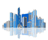 Free Business Theme. Skyscraper On White Background. Royalty Free Stock Photography - 30213667