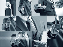 Business themed collage stock images