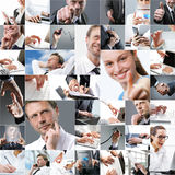 Business themed collage Royalty Free Stock Photo