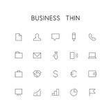 Business thin icon set vector illustration