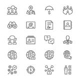 Business thin icons. Simple, Clear and sharp. Easy to resize Royalty Free Stock Photos