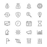Business thin icons Royalty Free Stock Photography