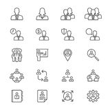 Business thin icons. Simple, Clear and sharp. Easy to resize Stock Photo