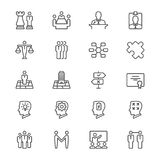 Business thin icons. Simple, Clear and sharp. Easy to resize Royalty Free Stock Photo