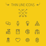 Business thin line icon set Stock Photography