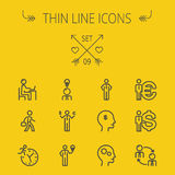 Business thin line icon set Royalty Free Stock Photo