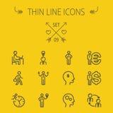 Business thin line icon set Royalty Free Stock Photo