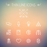 Business thin line icon set Stock Image
