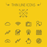 Business thin line icon set Royalty Free Stock Photography