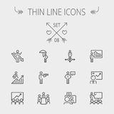 Business thin line icon Royalty Free Stock Photography