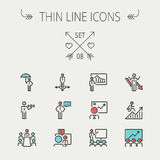 Business thin line icon Stock Images