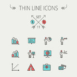 Business thin line icon Royalty Free Stock Image