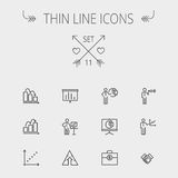 Business thin line icon Stock Photo