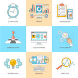 Business thin line icons Royalty Free Stock Photos