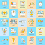 Business Thin Line Icons Royalty Free Stock Images