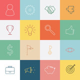Business thin line icons set Stock Image