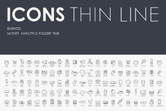 Business Thin Line Icons. Thin Stroke Line Icons of business on White Background Stock Images