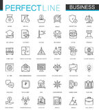 Business thin line web icons set. Outline stroke icon design. Business thin line web icons set. Outline stroke icon design vector illustration