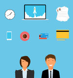 Business Things. And all stuff they needs royalty free illustration