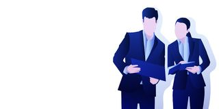 Business things at the paper background royalty free illustration